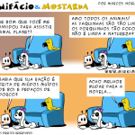 Tirinha 0496 – Bonifácio, romântico e sensível! #sqn