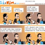 Tirinha 0543 – Que tal uma pizzazinha de aliche?